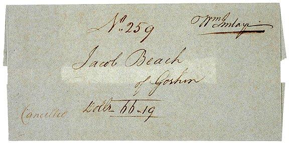5023: c. 1780, Original Paper Wrapper, William Imlay