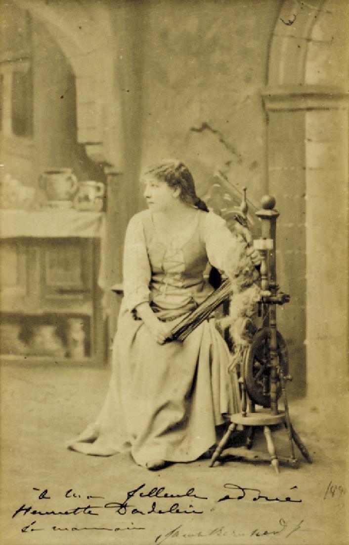 SARAH BERNHARDT Huge Panel Signed Photograph Card
