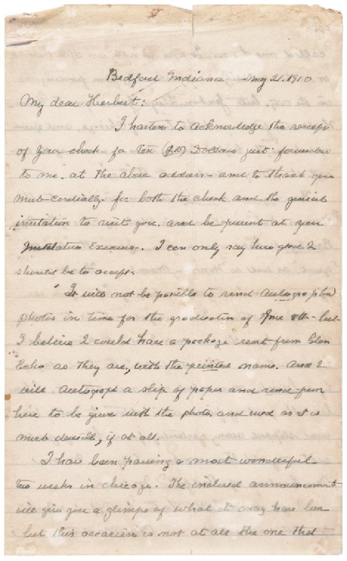 CLARA BARTON Signed Letters + Document Archive