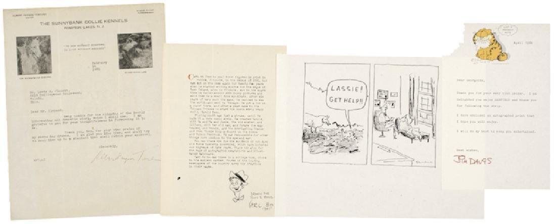 CARTOONISTS & AUTHOR LOT, GARFIELD'S JIM DAVIS