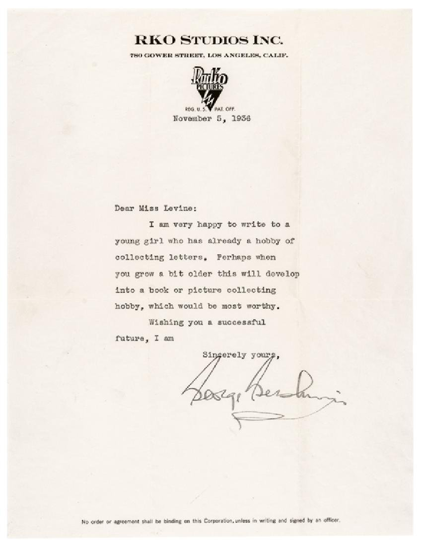 1936 Nice GEORGE GERSHWIN Typed Letter Signed
