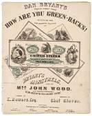 1863 Civil War Music HOW ARE YOU GREENBACKS