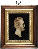 1860s Civil War Era Abraham Lincoln Wax Profile