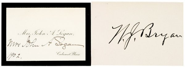 4: WILLIAM JENNINGS BRYAN Autographed Card