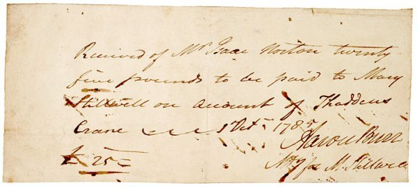 8: Document Signed by Aaron Burr, 1785