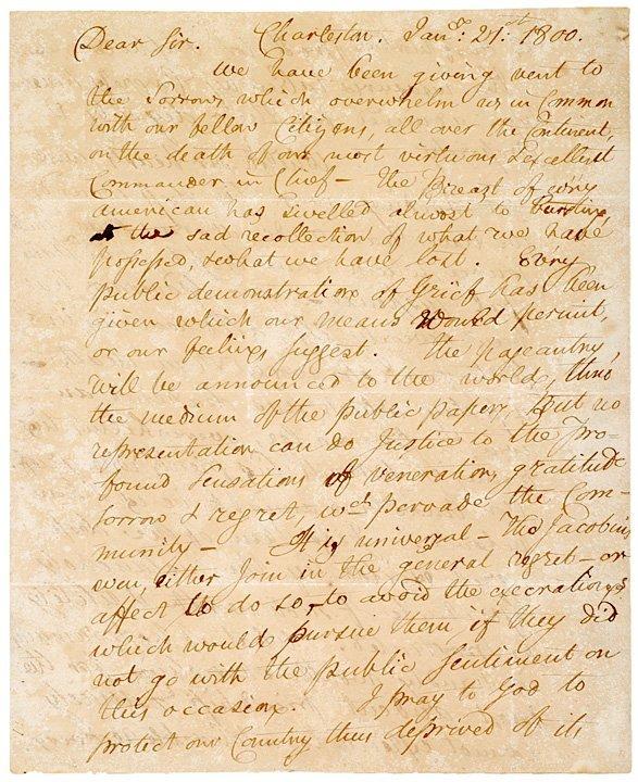 22: HENRY WILLIAM DeSAUSSRE, 1800 Letter