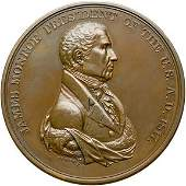745: (1817) James Monroe Indian Peace Medal in Bronze