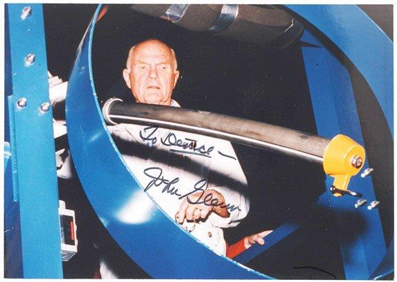 2001: Astronaut JOHN GLENN Signed Photograph