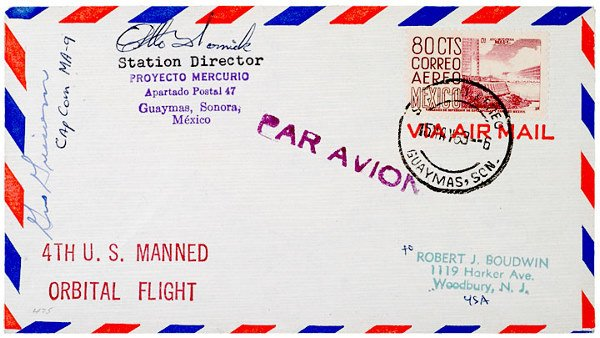 2002: Astronaut GUS GRISSOM, Signed Air Mail Envelope