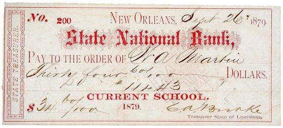 2005: E.A. BIRRKE, Check Signed, 1879