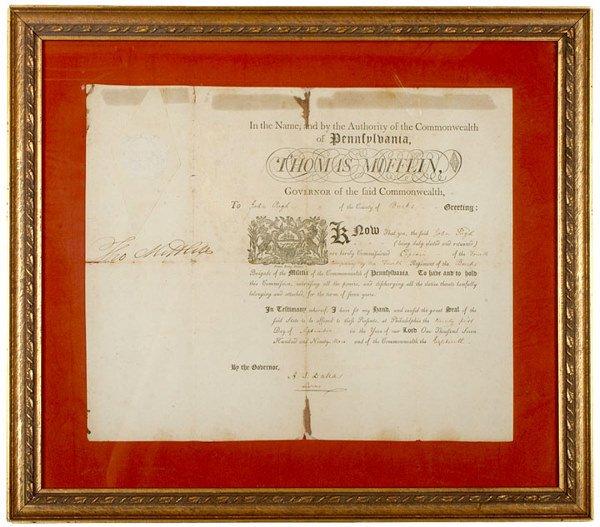 2014: THOMAS MIFFLIN, Pennsylvania Governor, Document