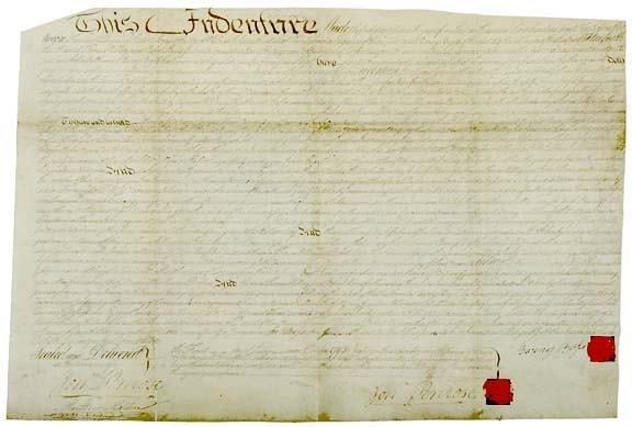 2016: Manuscript Deed Involving ROBERT MORRIS, 1795