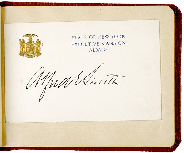 2017: 1920s Autograph Album from NEW YORK