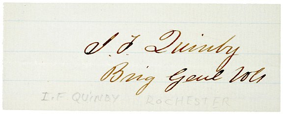 2018: Union General, ISSAC QUINBY, Clipped Signature