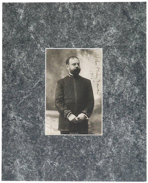 2022: JOHN PHILIP SOUSA Photo Postcard Signed, 1926