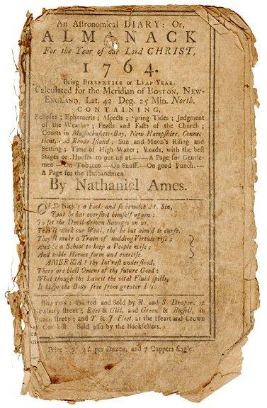 4009: AN ASTRONOMICAL DIARY-Almanack Nathaniel Ames