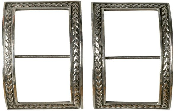 4010: English Sterling Silver Shoe Buckles, c. 1782