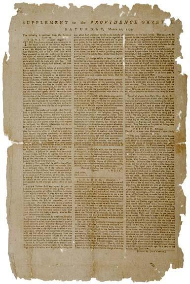4016: 1779, Broadside: News of the Treaty in France