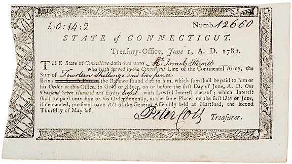 4022: 1782 Connecticut, Treasury-Office Certificate
