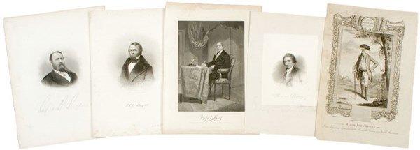4024: 5 Prints: Revolutionary War Figures - MAJ. ANDRE