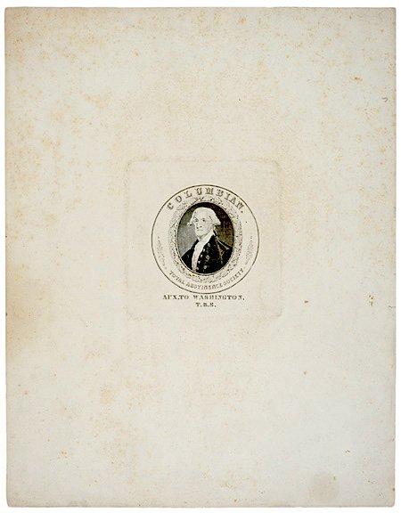 4026: Proof Portrait of Washington, ABSTINENCE SOCIETY