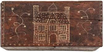 c 1720 EASTERN MASS PILGRIM PAINTED LETTER BOX
