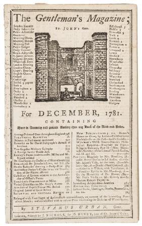 December 1781 The GentlemanÂ's Magazine, London
