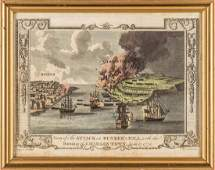 1781 Print - View of The Attack on Bunker's Hill