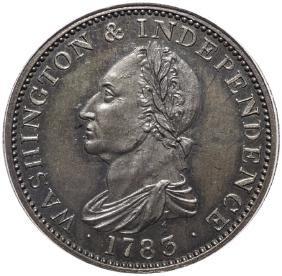 1783 Plain Edge Washington + Independence Cent