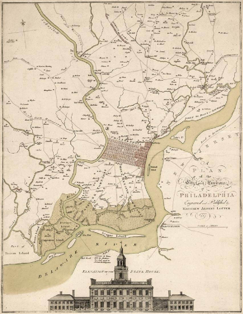 1777 Map: The City and Environs of Philadelphia