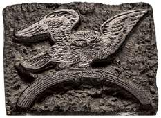c 1810 Wooden Eagle Print Block
