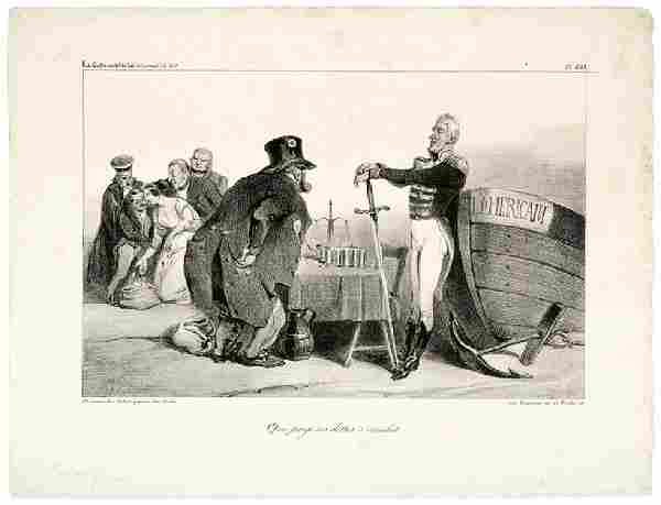 France Debt to U.S. Caricature, 1835