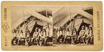 c. 1870 SITTING BULL + SIOUX INDIAN CHIEFS PHOTO