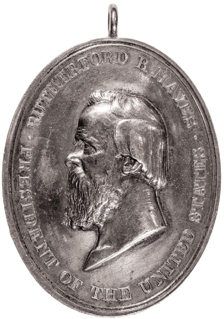 1877 Silver Rutherford Hayes Indian Peace Medal