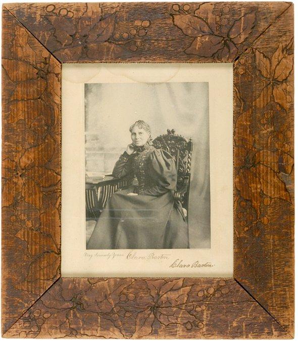 2004: Signed Photo by Clara Barton, 1903