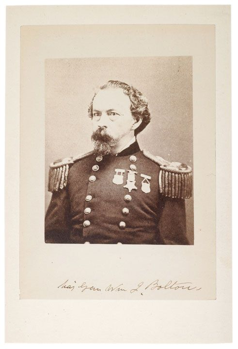 Civil War General, WILLIAM J. BOLTON, Photo Signe
