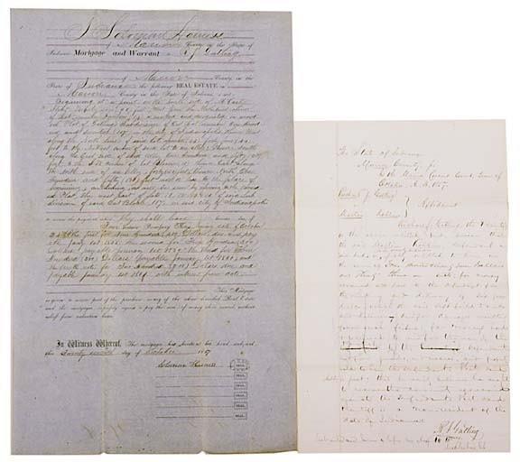 2018: RICHARD J. GATLING, 1857, Signed Letter