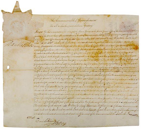 2023: THOMAS MIFFLIN Signed Document 1790