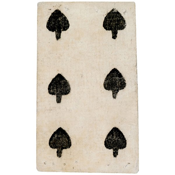 2034: c. 1700 Issued French Canada Playing Card Receipt
