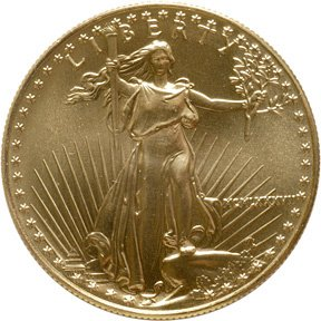 2103: 1987 $50 Gold, One Ounce, United States Mint,