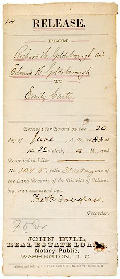 3007: Abolitionist FREDERICK DOUGLASS, Signed Document