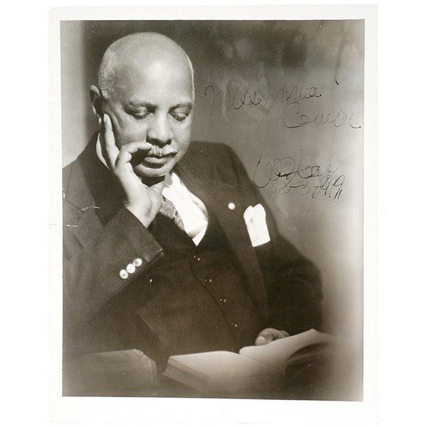 3013: W.C. HANDY, Signed Photograph, 1949