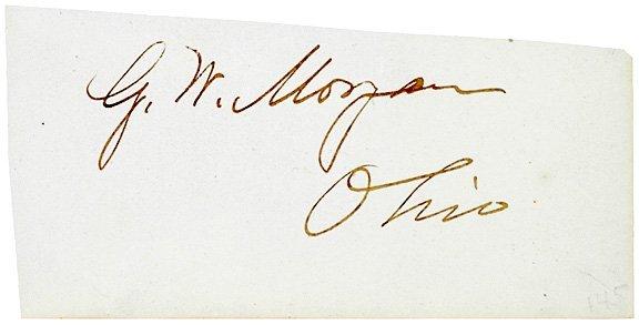 3019: General GEORGE WASHINGTON MORGAN, Signature