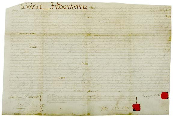 3021: Manuscript Deed Involving ROBERT MORRIS, 1795
