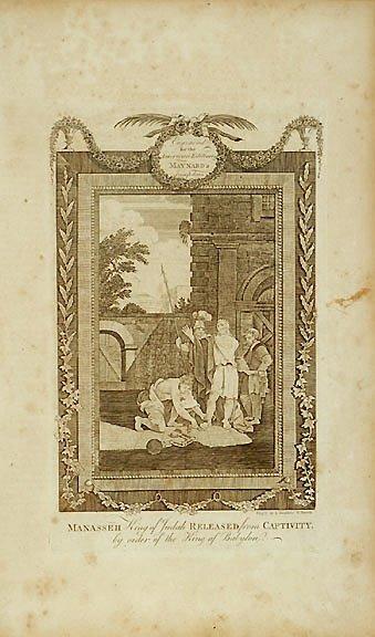 3049: AMOS DOOLITTLE Engraving: Manasseh, King of Judah