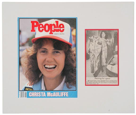 4: ASTRONAUT, CHRISTA McAULIFFE Signed Picture