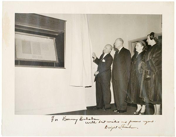 EISENHOWER Unveiling Abraham Lincoln Proclamation