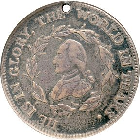 285: Silver George Washington Funeral Urn Medal