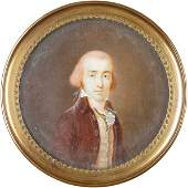 442 c 1770 Oil Portrait Painted on Ivory