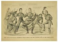 569 Civil War Lithograph Jefferson Davis Cameron